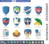 set of illustration protection... | Shutterstock .eps vector #1013164663