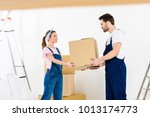 relocation service worker... | Shutterstock . vector #1013174773
