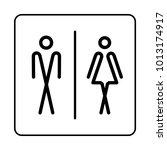wc   toilet door plate icon.... | Shutterstock .eps vector #1013174917