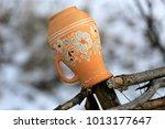 traditional ukrainian clay jug... | Shutterstock . vector #1013177647