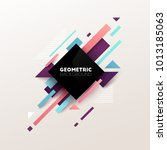 abstract geometric background.... | Shutterstock .eps vector #1013185063