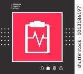 electrocardiogram symbol icon   Shutterstock .eps vector #1013186197