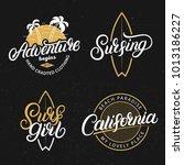 set of adventure  california ... | Shutterstock . vector #1013186227