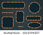vector frame with light effect. ... | Shutterstock .eps vector #1013194357