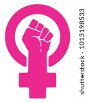 vector women resist symbol.... | Shutterstock .eps vector #1013198533
