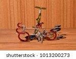 bicycle model on wooden floor | Shutterstock . vector #1013200273
