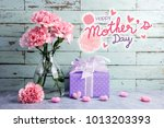 happy mothers day message on... | Shutterstock . vector #1013203393
