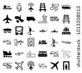 passenger icons. set of 36... | Shutterstock .eps vector #1013208013