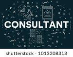 conceptual business... | Shutterstock . vector #1013208313