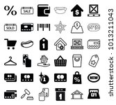 sale icons. set of 36 editable... | Shutterstock .eps vector #1013211043
