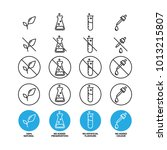 no artificial flavours icon  ... | Shutterstock .eps vector #1013215807