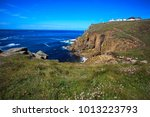 Small photo of Land's End area (England), UK - August 16, 2015: The Land's End area, Cornwall, England, United Kingdom.