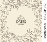 background with date fruit ... | Shutterstock .eps vector #1013234317