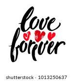 forever love typography for... | Shutterstock .eps vector #1013250637