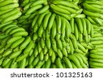 Heap Of Green Banana