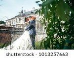 wedding portrait of the... | Shutterstock . vector #1013257663