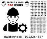 sad repairman pictograph with... | Shutterstock .eps vector #1013264587