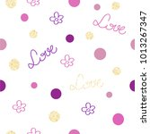 seamless pattern   bokeh  word... | Shutterstock .eps vector #1013267347
