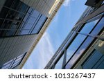 modern office buildings with... | Shutterstock . vector #1013267437