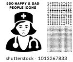 pitiful physician lady... | Shutterstock .eps vector #1013267833