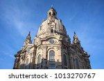 dresden frauenkirche church in... | Shutterstock . vector #1013270767