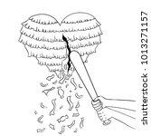 pinata heart metaphor coloring... | Shutterstock . vector #1013271157