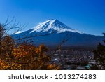 pictures of fuji volcano in... | Shutterstock . vector #1013274283
