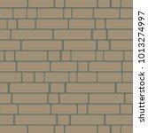 seamless texture of a brick... | Shutterstock . vector #1013274997