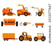 set with different heavy... | Shutterstock .eps vector #1013277667