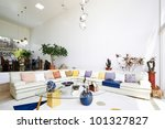 Interior design series: living room - stock photo