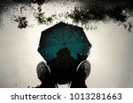 reflection shadow man and... | Shutterstock . vector #1013281663