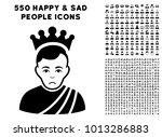 unhappy emperor icon with 550... | Shutterstock .eps vector #1013286883