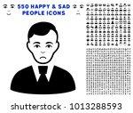 pitiful clerk guy pictograph... | Shutterstock .eps vector #1013288593