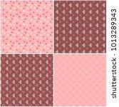 vector heart pattern set. st... | Shutterstock .eps vector #1013289343