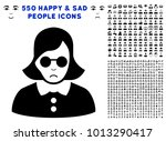pitiful blind woman pictograph... | Shutterstock .eps vector #1013290417