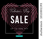 valentine's day sale banner.... | Shutterstock .eps vector #1013301193