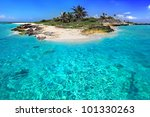 Caribbean Island With Perfect...