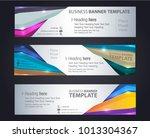 banner template corporate... | Shutterstock .eps vector #1013304367