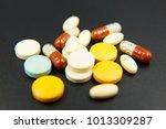 drug prescription for treatment ...   Shutterstock . vector #1013309287