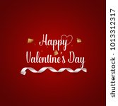 valentines day background... | Shutterstock .eps vector #1013312317