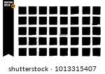 a set of frames  black squares ...   Shutterstock .eps vector #1013315407