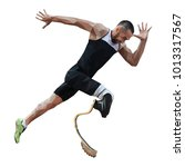 athlete disabled amputee runner ... | Shutterstock .eps vector #1013317567