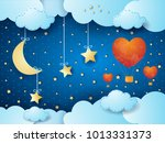 valentine background with... | Shutterstock .eps vector #1013331373