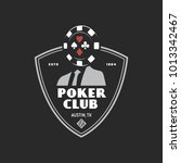 poker club emblem label badge... | Shutterstock .eps vector #1013342467