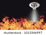 image of fire sprinklers... | Shutterstock . vector #1013346997