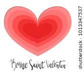 bonne saint valentin happy... | Shutterstock .eps vector #1013347537