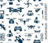 digital vector flying drone... | Shutterstock .eps vector #1013351857