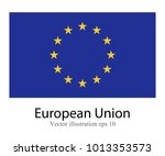 high detailed vector flag of... | Shutterstock .eps vector #1013353573