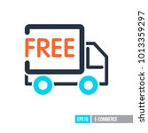 free shipping icon. e commerce...