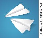 paper planes vector designed in ... | Shutterstock .eps vector #1013368273